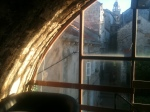 View from inside turret into old city
