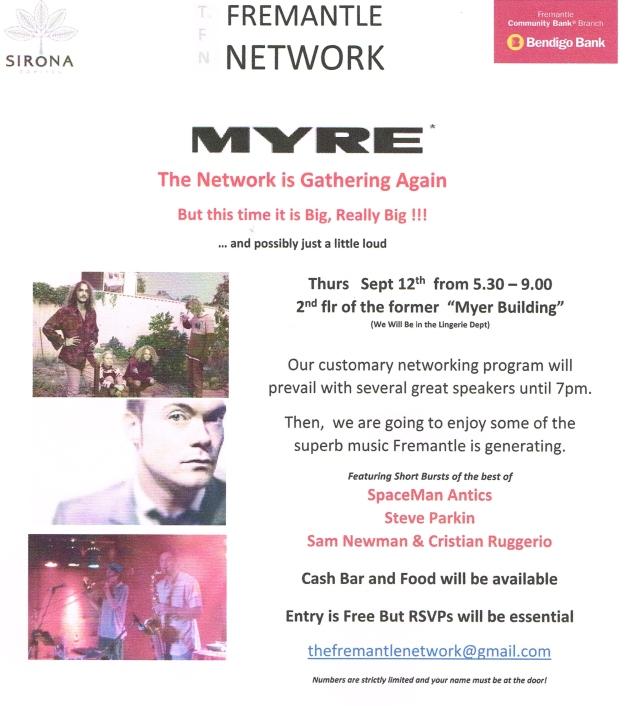 Fremantle network MYRE invite