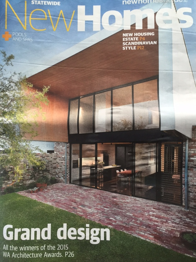 Price Street House on cover of Weekend West Liftout