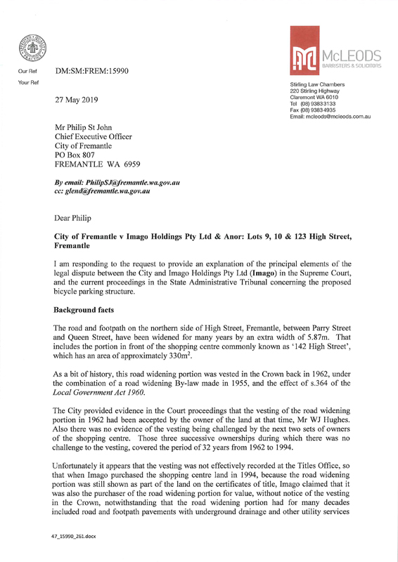 City appeals Supreme Court decision   City of Fremantle
